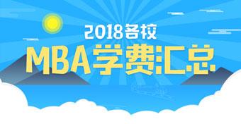 2018MBA学费