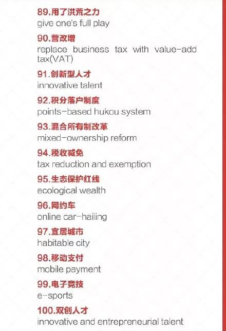 十九大100个必会热词翻译 2018年MBA考研儿学起来!
