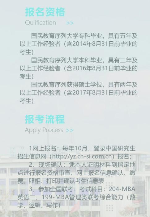 2019年南京邮电大学MBA项目招生简章