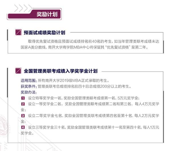 2019年南开大学MBA招生简章
