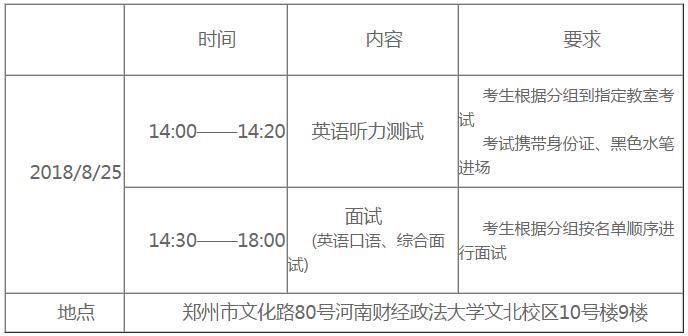 2019河南财经政法大学MBA第二批提前面试安排公告